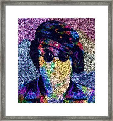 John Lennon Mosaic Framed Print
