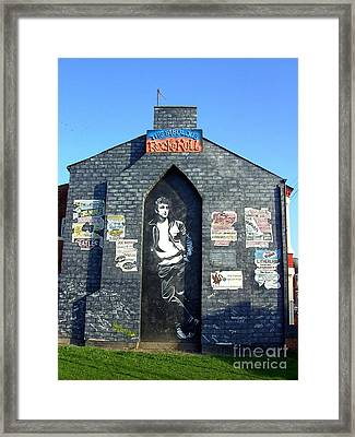 John Lennon Mural Liverpool Uk Framed Print by Steve Kearns