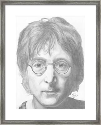 John Lennon Framed Print by Olivia Schiermeyer