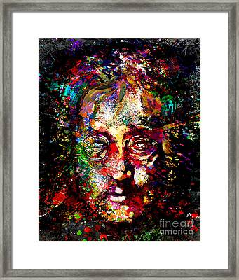 John Lennon Painting Art Print Framed Print by Ryan Rock Artist