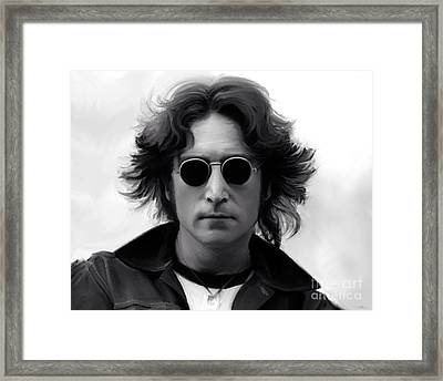 John Lennon Framed Print by Paul Tagliamonte