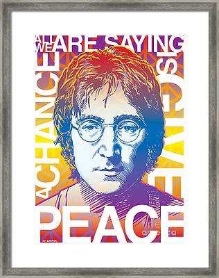 John Lennon Pop Art Framed Print by Jim Zahniser