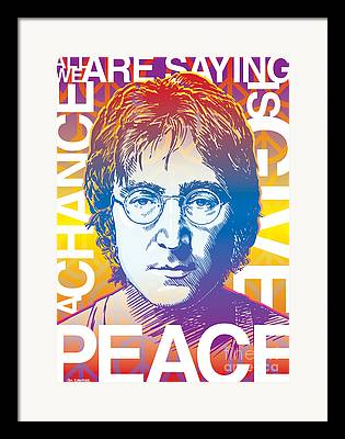 John Lennon Drawings Framed Prints