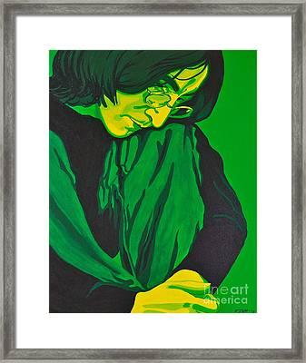 John Lennon Framed Print by Rebecca Mott