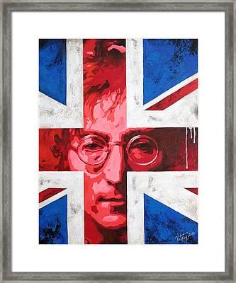 John Lennon -the Man Of Peace.the Number One Framed Print by Vitaliy Shcherbak