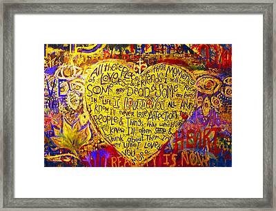 John Lennon Wall / Prague Framed Print