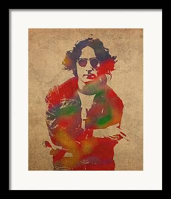 Lennon Mixed Media Framed Prints