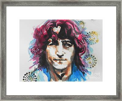 John Lennon..up Close Framed Print by Chrisann Ellis