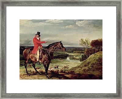 John Levett Hunting In The Park At Wychnor Framed Print by James Ward