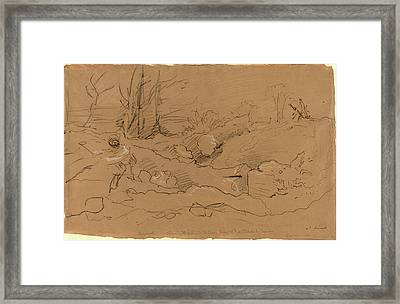John Linnell, British 1792-1882, Bayswater Framed Print by Litz Collection