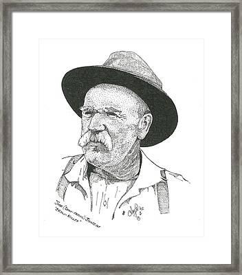 John Liver Eatin Johnson Framed Print