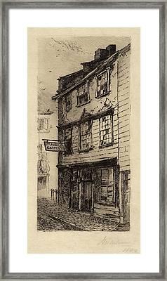 John Mackie Falconer, 78 Cross Street, Boston Framed Print by Quint Lox