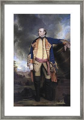 John Manners Marquess Of Granby, C.1763 Framed Print by Sir Joshua Reynolds