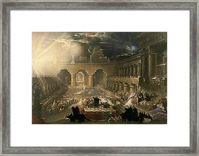 John Martin, Belshazzars Feast, British Framed Print by Litz Collection