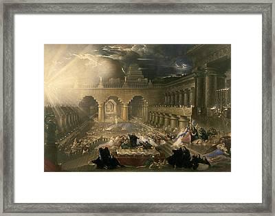 John Martin, Belshazzars Feast, British Framed Print by Quint Lox