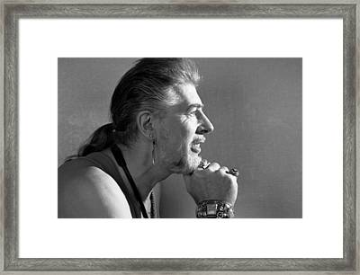 John Mayall Profile Framed Print by Nancy Clendaniel