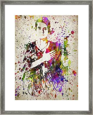 John Mayer In Color Framed Print by Aged Pixel
