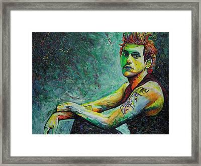 John Mayer Framed Print by Joshua Morton
