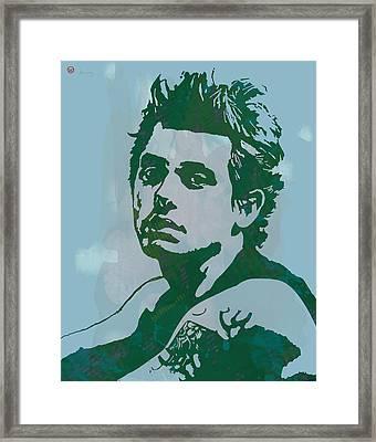 John Mayer - Pop Stylised Art Sketch Poster Framed Print by Kim Wang