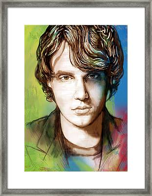 John Mayer Stylised Pop Art Drawing Potrait Poser Framed Print