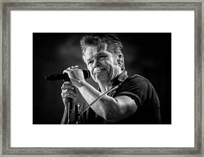 John Mellencamp In Black And White - Farm Aid Framed Print