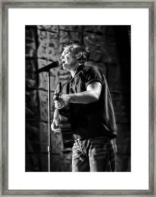 John Mellencamp On Guitar Framed Print