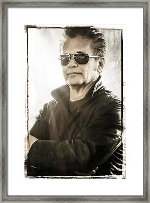 John Mellencamp Portrait At Farm Aid  Framed Print by Jennifer Rondinelli Reilly - Fine Art Photography