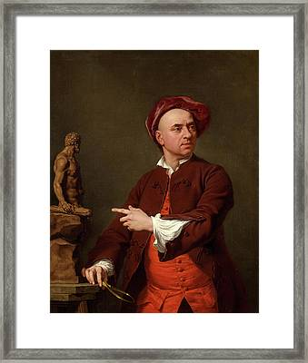 John Michael Rysbrack Modelling His Terra-cotta Statue Framed Print by Litz Collection