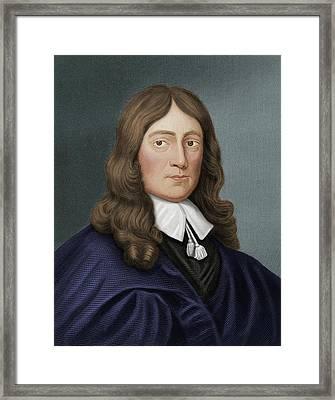 John Milton Framed Print by Maria Platt-evans