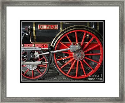 John Molson Steam Train Locomotive Framed Print