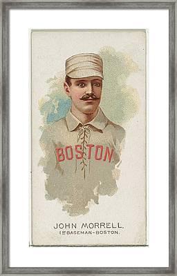 John Morrell, Baseball Player, 1st Framed Print by Allen & Ginter