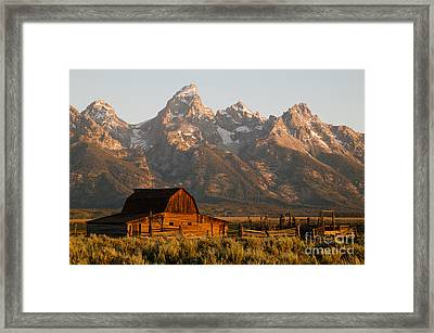John Moulton Barn Framed Print by Clarence Holmes