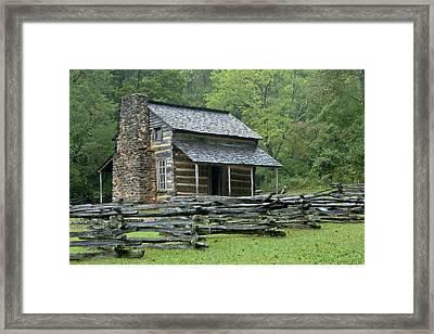 John Oliver Cabin Framed Print
