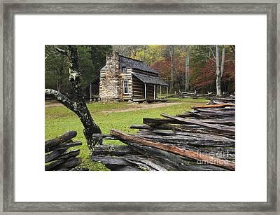 John Oliver Cabin - D000352 Framed Print by Daniel Dempster