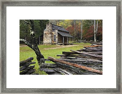 John Oliver Cabin - D000352 Framed Print