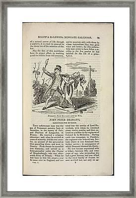 John Peter Dramatti Framed Print by British Library