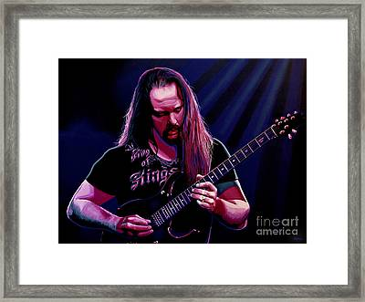 John Petrucci Painting Framed Print by Paul Meijering