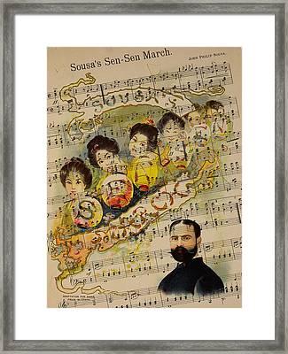 John Philip Sousa 2 Framed Print by Andrew Fare