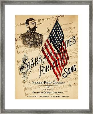 John Philip Sousa 1 Framed Print by Andrew Fare