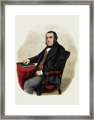 John Quekett Framed Print by Maria Platt-evans