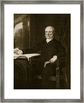 John Quincy Adams Framed Print by George Healy