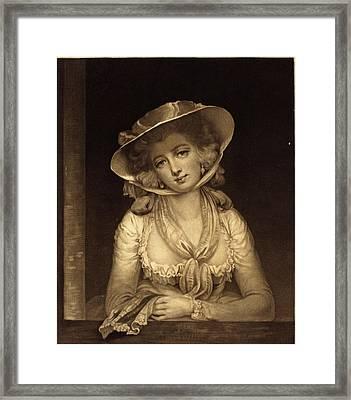 John Raphael Smith After John Hoppner British Framed Print by Quint Lox