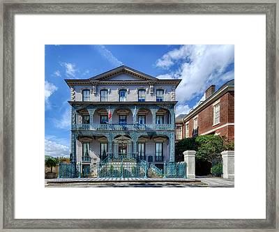 John Rutledge House - Charleston Framed Print by Frank J Benz