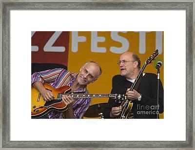 John Scofield And Larry Carlton Framed Print