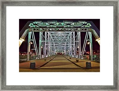 John Seigenthaler Pedestrian Bridge Framed Print by Frozen in Time Fine Art Photography