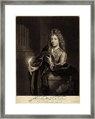 John Smith After Godfried Schalcken English Framed Print by Quint Lox