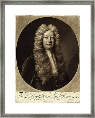 John Smith After Jonathan Richardson Framed Print by Quint Lox