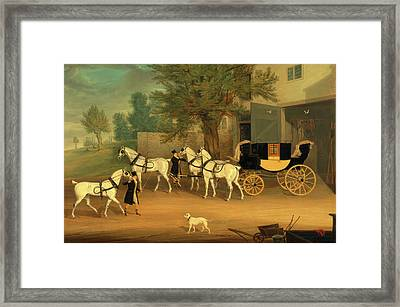 John Smith Barry's Private Drag And Grey Team John Smith Framed Print by Litz Collection
