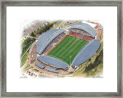 John Smith's Stadium - Huddersfield Town Framed Print by Kevin Fletcher
