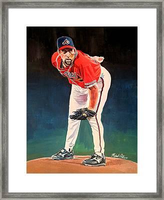 John Smoltz - Atlanta Braves Framed Print by Michael  Pattison